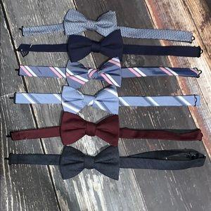 Goodfellow & Co bundle of 6 bowtie bows NWOT
